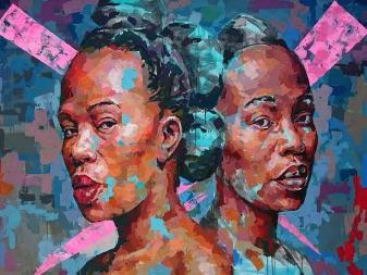 Medium: Acrylic Paint<br>Size: 120cm X 120cm<br>Price: R32,900.00