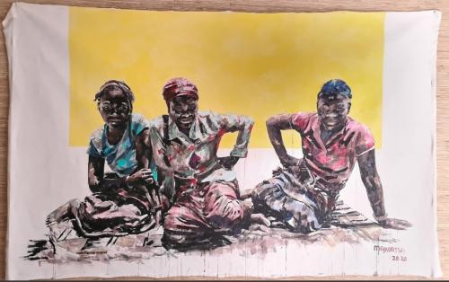 Medium: Acrylic Paint<br>Size: 144cm X 184cm<br>Price: R45,000.00
