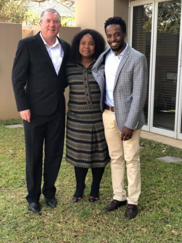 Guy Baxter, Bulelwa Ntshingwa & Zuko Kubukeli at the PAPE Bryanston office (2017)